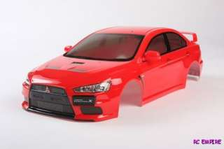 10 Tamiya 51376 RC Body Set Mitsubishi Lancer Evo X