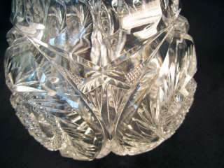ABP American Brilliant Period Cut Glass Round Crystal Bowl