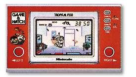 Vintage Tropical Fish Nintendo Game & Watch Wide Screen