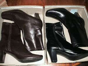 NEW WOMENS SHOES BLACK ~ BROWN ANKLE BOOTS A2 AEROSOLES
