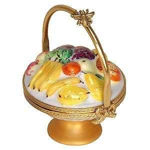 Fruit Compote Basket French Porcelain Limoges Box