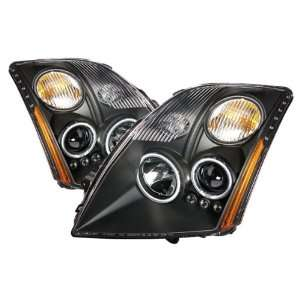 07 11 Nissan Sentra Black CCFL Halo Projector Headlights