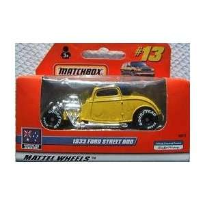 Matchbox 1933 Ford Street Rod Yellow #13 Toys & Games