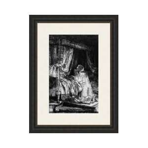 King David At Prayer 1652 Framed Giclee Print