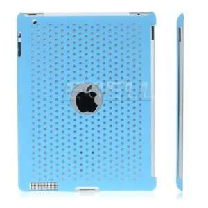 Ecell   SKY BLUE PERFORATED MESH BACK CASE FOR APPLE iPAD