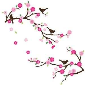 Blossom & Birds Decorative Nursery/Room Wall Sticker Decals Baby