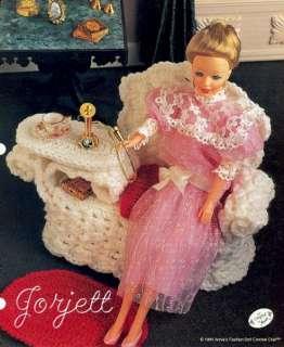Wicker Gossip Bench, crochet patterns fit Barbie dolls
