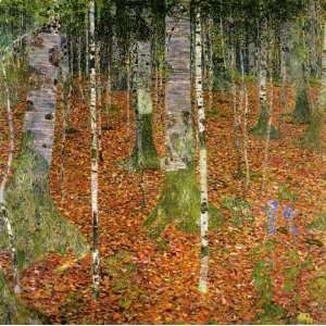 Reproductions and Oil Paintings Birch Forest Oil Painting Canvas Art