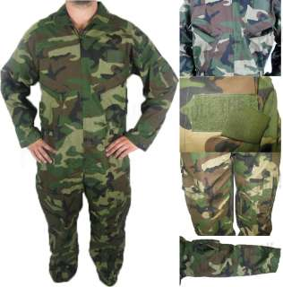 Military Flight Suit Coverall Air Force WOODLAND CAMO