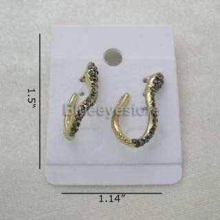 Fashion Gold Diamond Snake Stud Earring Jewelry Earring
