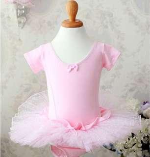 Pink Fairy Ballet Dance Party Costume Tutu Dress 3 8Y
