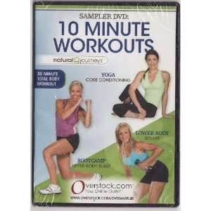 Natural Journeys Sampler DVD 10 Minute Workouts   Yoga, Lower Body