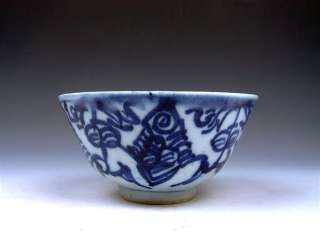 Ship From U.S* Antique 18th Century Circa Blue&White QingHua Hand