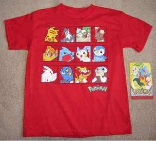 POKEMON Pikachu *Boxes* Red Tee T Shirt NEW sz 12/14