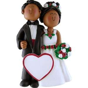 3917 Wedding Couple Male and Female African American Personalized