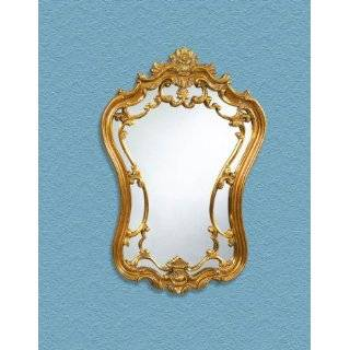 Ornate Baroque Large Arch Top Wall Mirror Antique Gold