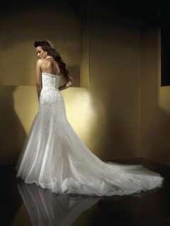 Pageant Halter Satin Organza Wedding Dress New Size