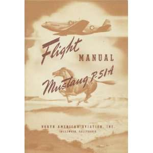 Aviation P 51 A Aircraft Flight Manual North American Aviation Books