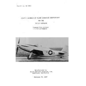 Aviation XP 51J Aircraft Flight Manual North American Aviation Books