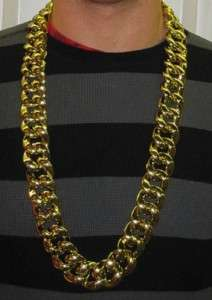 Thick Gold Chain Necklace Pimp Gangster Hip Hop 80s