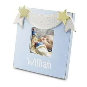 Personalized Hand Painted Its A Boy Picture Frame Gift