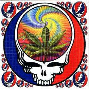 Grateful Dead pot leaf BLOTTER ART psychedelic