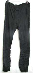 Hot Chillys Mens Fleece Snow Ski Snowboard Base Layer Pants Black Size