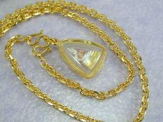 Buddha Amulet 24K Yellow 18K White & Rose Gold GP Necklace 18