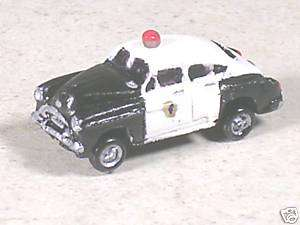 Scale 1952 Black & Whie Chevy Police Car |