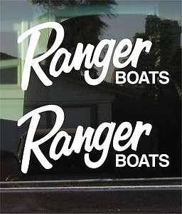 RANGER BOATS LOGO 10 INCH VINYL DECAL / STICKER PAIR