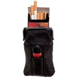 Embassy Genuine Leather Cigarette Case & Clip Close Top