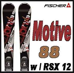 11 12 Fischer Motive 88 Skis 176cm w/RSX 12 PowerRail NEW