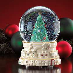 Lenox Christmas Express Musical Snow globe *NIB*