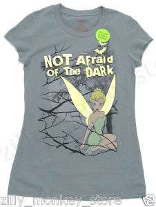 Disney Tinker Bell Glow In Dark Womens Girls Tee Shirt
