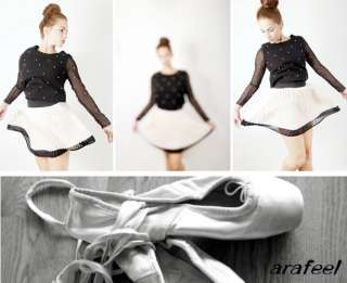 Pearl blouse top Pearlescent Bead white black chiffon