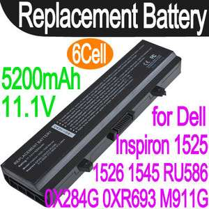 Cell Battery For Dell Inspiron 1525 1526 1545 RU586 0WK379 0X284G