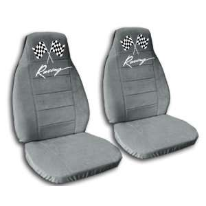 seat covers. Seperate headrest included. Steel grey racing seat covers