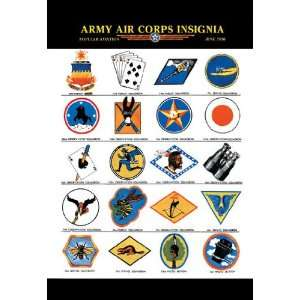 Army Air Corps Insignia 28x42 Giclee on Canvas