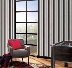 DiSnEy Striped Red Blue White Gray Wallpaper Room Decor