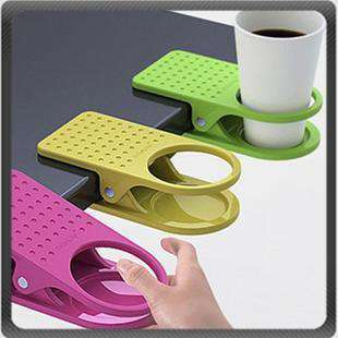 Desk Cup Holder Drink Clip Lap Table Folder Reading
