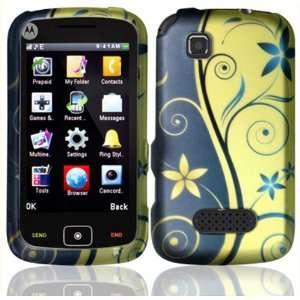 Royal Swirl Design Hard Case Cover for Motorola EX124G