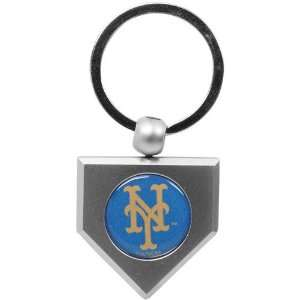 New York Mets Silver Pewter Home Plate Keychain Sports