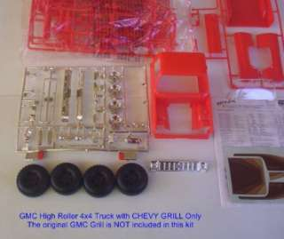 4x4 GMC Truck w CHEVY GRILL NOW Pickup HIGH ROLLER #2273 Monogram 124