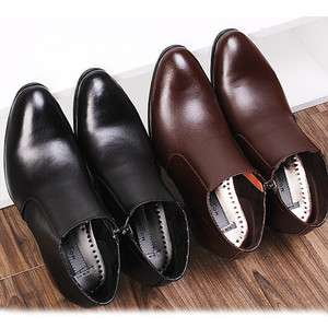 Mens Dress Leather Shoes Formal Casual Black Brown Ankle Boots Stylish