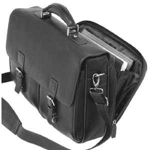 Bugatti Black Nappa Leather Briefcase Laptop Office