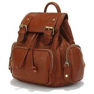 Leather Girl Cute Backpack Satchel Handbag Purse Leisure Stroll Style