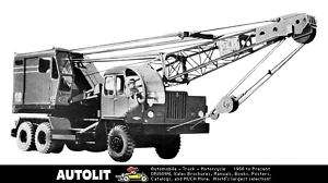 1961 Mitsubishi Fuso W25A Crane Truck Factory Photo