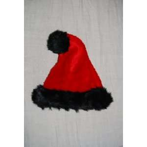 Red & Black Holiday Christmas Santa Hat  Home & Kitchen