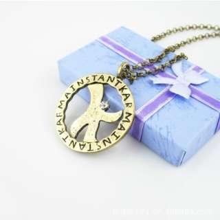 Korean 2PM Dream High Kim Hyun Joong K Lucky Star Necklace + Gift Box