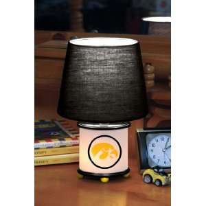 IOWA HAWKEYES Team Logo 12 Tall DUAL LIT ACCENT LAMP / NIGHT LIGHT